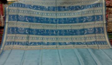 Orissa Handloom Tribal Aanchal Ikat Saree with Blouse Piece