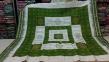 White n Green Orissa Handloom Saree