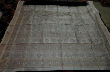Black and white beautiful Bomkai Saree in Silk