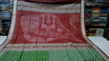 Shell and Animal Motif Traditional Silk Saree with Blouse Piece
