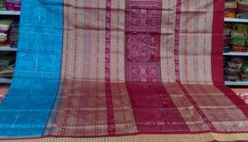 Jungle theme Animal Motif Master Weavers Piece Silk Saree with Blouse Piece