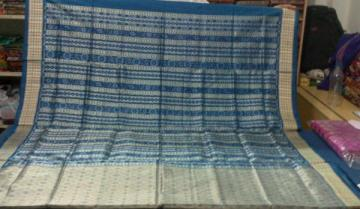 All over Ikat work Orissa Handloom Silk Saree with Blouse Piece