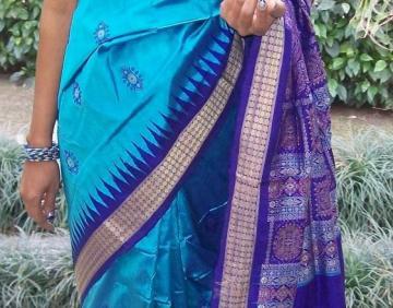 Traditional Orissa Handloom Bomkai Saree With Blouse Piece