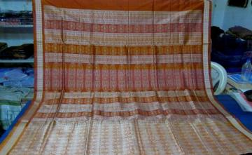 Gorgeous Full Body and Aanchal Bomkai work Odisha Handloom SIlk Saree
