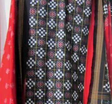 Black and Red Cotton Unstitched Salwar Suit Set