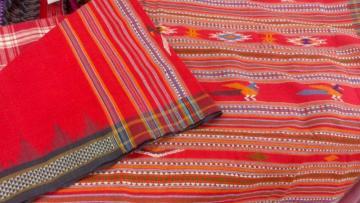 Red Color Siminoi Saree In Cotton
