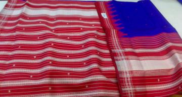 Berhampuri Silk Saree with Blouse Piece