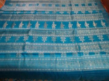 Tasar Silk Saree with Woven Tribal figures in Zari And Thread work  Aanchal