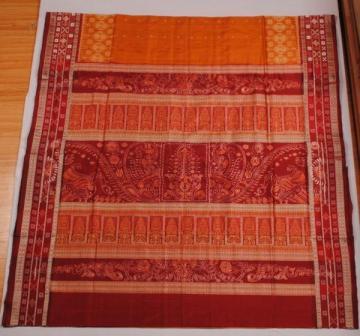 Odishi Handloom Ikat-Bomkai Designer Saree Sari