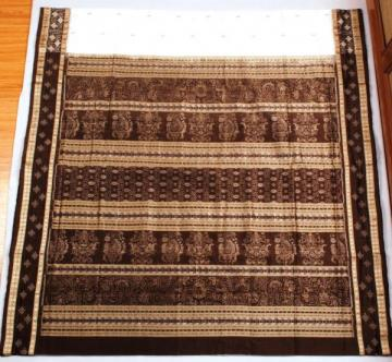 Odishi Handloom Ikat Traditional Design Saree with pasapalli Border