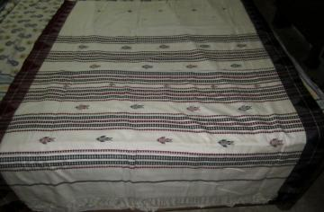Fish Motifs Fine cotton Ganga Jamuna Border Kotpad Saree