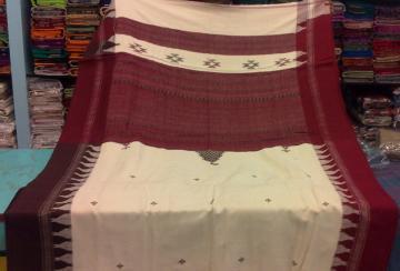 Thick Pure Cotton Thick Ganga Jamuna Border Kotpad Saree