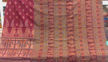 Dancer Motif Traditional Ikat Saree in Cotton