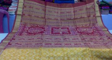 All over Ikat Tissue Silk Saree with Blouse Piece