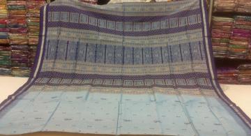Tribal Motif Bomkai Silk Saree with Blouse Piece