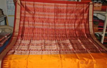 Orissa Handloom Bomkai Patli Saree Sari