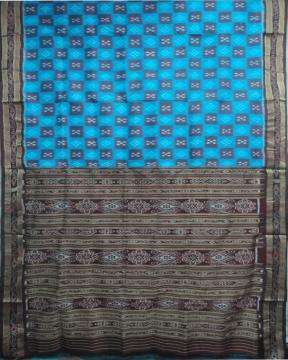Pasapalli pattern woven Khandua silk saree