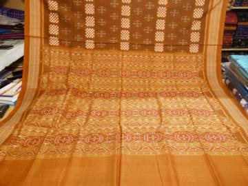 All Over Ikat work Cotton Saree without blouse piece