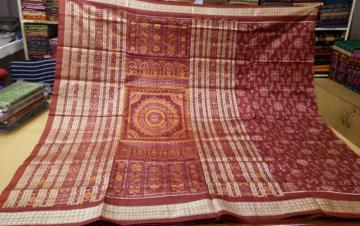 All over traditional Ikat work Silk Saree with Blouse piece