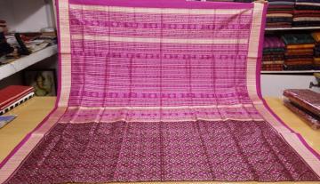 All Over Ikat Odisha Handloom Silk Saree with Blouse piece