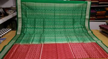 All over Ikat SIlk Saree with Blouse Piece