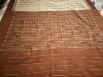 Cotton Ikkat Orissa Handloom Saree without Blouse Piece