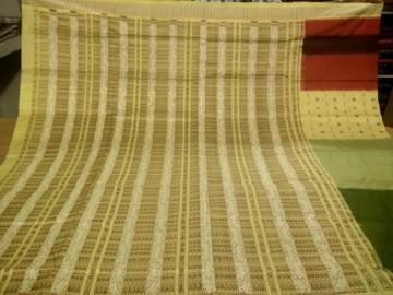 Multi Colors Hand woven Silk Saree with Blouse Piece