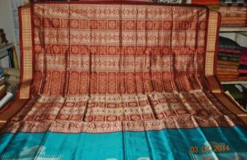 Orissa Handloom Traditional Bomkai Saree Sari