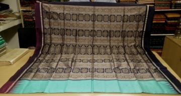 Elegant Ganga Jamuna Bomkai Silk Saree with Blouse Piece