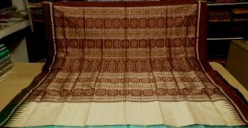 Beautiful Ganga Jamuna Bomkai Saree with Blouse piece