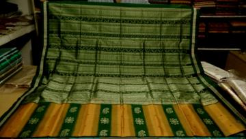 Intricate weaving Elephant Motifs Bomkai Saree with Blouse Piece