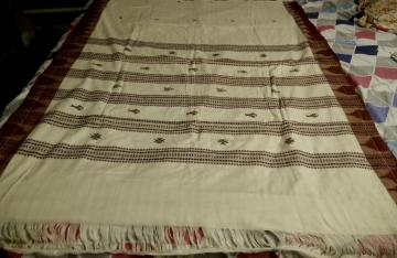 Fish and Tortoise Motifs Cotton Kotpad Saree