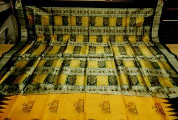 Beautiful Camel Motifs All over Body Bomkai Silk Saree with Blouse Piece