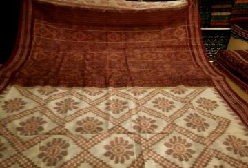 All over Ikat work Traditional Cotton Saree without Blouse Piece