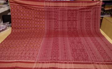 All over Ikat Traditional Odisha Handloom Cotton Saree without Blouse Piece
