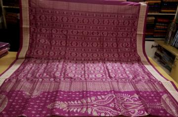 All over ikat traditional Silk Saree with Blouse Piece