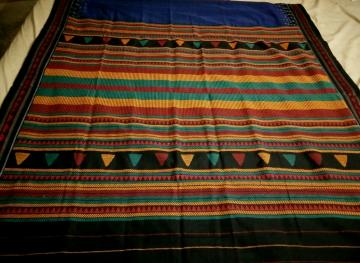Multicolor Aanchal Fine Cotton Tribal Dongria Saree