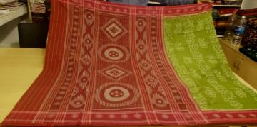 All Over Ikat Cotton Saree with Blouse Piece