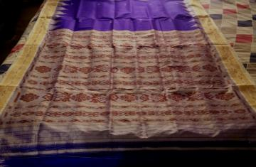 Traditional Silk Khandua Saree without Blouse Piece