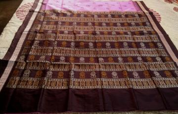 Animal and Tree Motifs Exclusively woven Bomkai Silk Saree with Blouse Piece