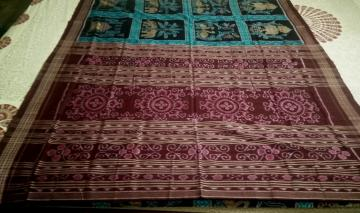 Animals Birds and Traditional Motifs Ikat Cotton Saree without Blouse Piece