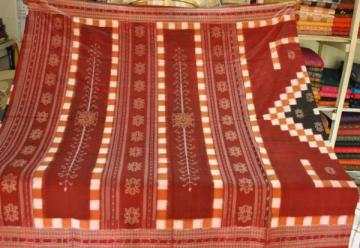 Orissa Handloom Body Pasapalli and Ikat Pure Cotton Saree