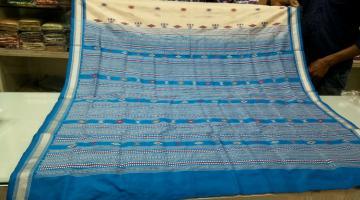 Master Weaver s Siminoi Inspired Tribal Bomkai Silk Saree with Blouse Piece