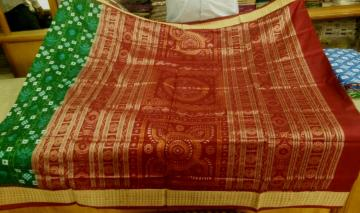 Pasapalli and Tree Motifs Silk Saree with Blouse Piece