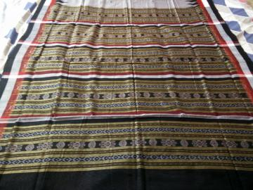 Traditional Ikat Weaving Cotton Saree with Blouse Piece