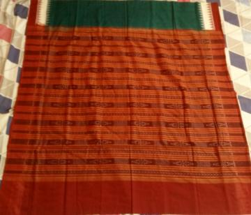 Traditional Ikat  Cotton Saree with Blouse Piece