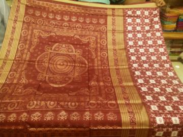 Maroon Pasapalli Silk Saree with Blouse Piece