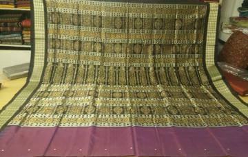Traditional Bomkai Silk Saree with Blouse Piece