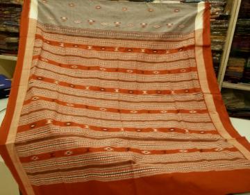 Tribal Bomkai Handwoven Cotton Saree with Blouse Piece
