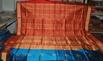 Orissa Handloom Leaf Design Bomkai Saree
